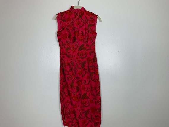 "Vintage pink ""cheongsam"" dress or ""qipao"" dress"