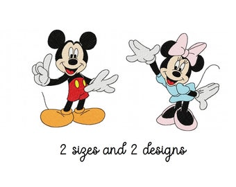 Machine Embroidery Patterns Mickey /& Minnie Mixed Set 1 3 sizes 10 Designs