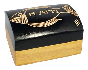 Vintage Caribbean Handpainted Jewelry Token Box