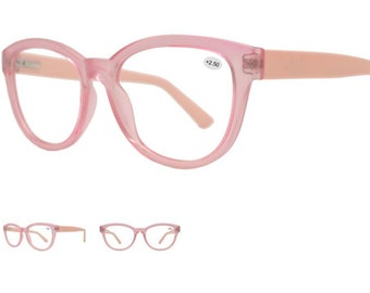 930a9355907cf Pink Template Round Reading Glasses RX ABLE