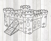 Fairy tale castle for princesses. Vector cutting file for Silhouette Cameo and Cricut; SVG, Studio3, PNG + EPS.
