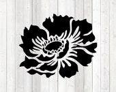 Big flower. Vector cutting file for Silhouette Cameo and Cricut; SVG, Studio3, PNG + EPS.