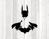 Batman with logo in the silhouette. Vector cutting file for Silhouette Cameo and Cricut; SVG, Studio3, PNG + EPS.