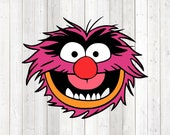 Drumming beast with pointed teeth - in color. Vector cutting file for Silhouette Cameo and Cricut; SVG, Studio3, PNG + EPS.
