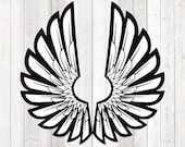 Big angels wings. Vector cutting file for Silhouette Cameo and Cricut; SVG, Studio3, PNG + EPS.