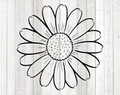 Daisy, beautiful big flower. Vector cutting file for Silhouette Cameo and Cricut; SVG, Studio3, PNG + EPS.