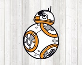 Rolling robot from the star series - in color. Vector cutting file for Silhouette Cameo and Cricut; SVG, Studio3, PNG + EPS.