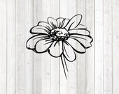 Flour with stem. Vector cutting file for Silhouette Cameo and Cricut; SVG, Studio3, PNG + EPS.
