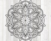 Mandala. Zentangle. Vector cutting file for Silhouette Cameo and Cricut; SVG, Studio3, PNG + EPS.