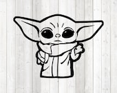 The Child with The Force. Vector cutting file for Silhouette Cameo and Cricut; SVG, Studio3, PNG + EPS.