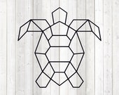 Geometric turtle, shape in lines. Vector cutting file for Silhouette Cameo and Cricut; SVG, Studio3, PNG + EPS.