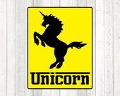Unicorn logo of well-known car brand. Vector cutting file for Silhouette Cameo and Cricut; SVG, Studio3, PNG + EPS.