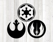Three of the factions in the film series. Vector cutting file for Silhouette Cameo and Cricut; SVG, Studio3, PNG + EPS.