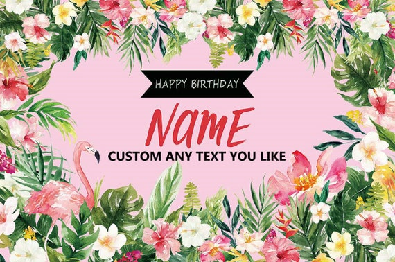 Summer Birthday Banner Personalized Party Backdrop