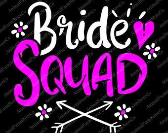 Bride squad clipart | Etsy