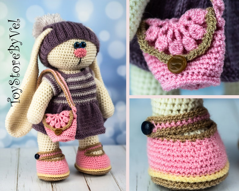 11 Crochet Bunny Patterns -Easter Fun - A More Crafty Life | 635x794