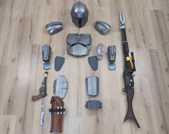 Mando Armor, Complete Wearable Beskar Costume Season 2 Kit/Ready to wear 3d Printed for Cosplay