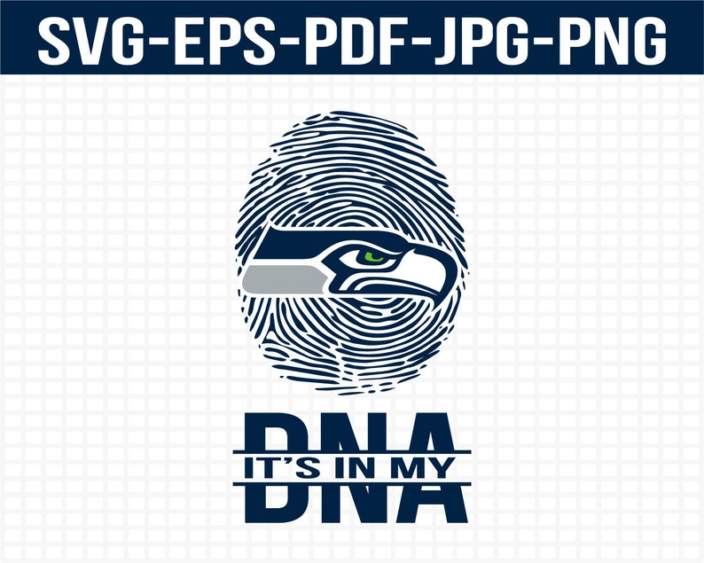 graphic relating to Seattle Seahawks Logo Printable titled Seattle Seahawks svg, nfl svg, nfl its inside my DNA, pdf, eps, jpg and png, nfl svg, nfl brand svg, immediate obtain printable, soccer presents