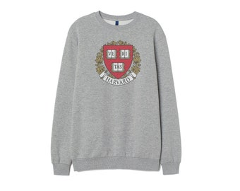 18c3508c2 harvard university Sweatshirt Inspired Cotton Jumper top Retro patch Unisex  Women