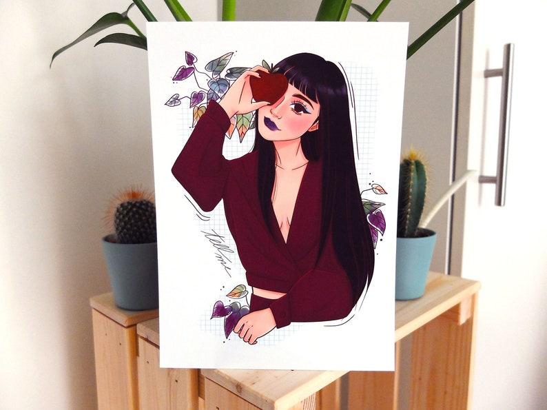 Tell Me Illustration Home Decor Fine Art Gicl\u00e9e Print Art Print Wall Art Print