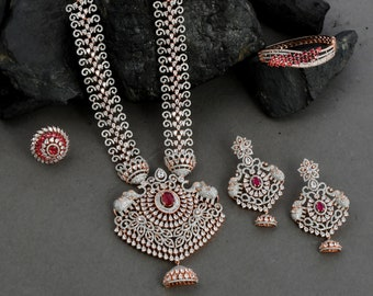 Bridal Necklace and Earring Set, Earrings and Necklace Set, Wedding Necklace and Earring Set, Necklace Set for Women, Layering Necklace Set