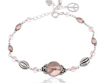 Tennis Swarovski Bracelet | Sterling Silver Bracelet | Swarovski Crystal Bracelet for Women | Silver Wedding Bracelet