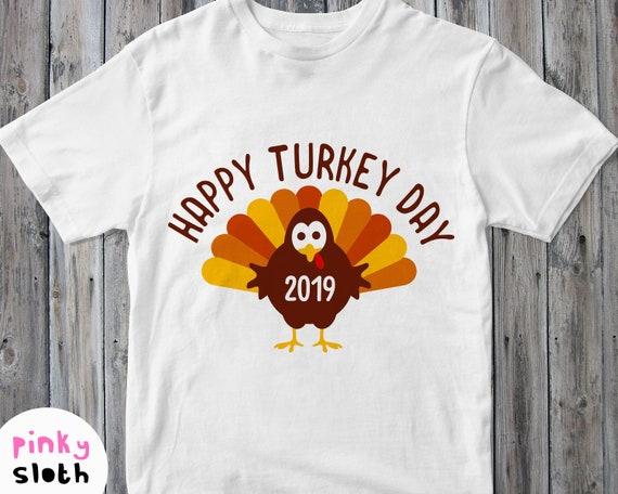 Happy Turkey Day Svg Thanksgiving Day Shirt Svg Give Thanks Etsy