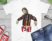 PSH In Furniture Store Shirt, Funny Ed Bassmaster T-Shirt, White Cotton T Shirt, Funny Shirt, Gift For Friend, Unisex Tee, PSH,Funny t shirt
