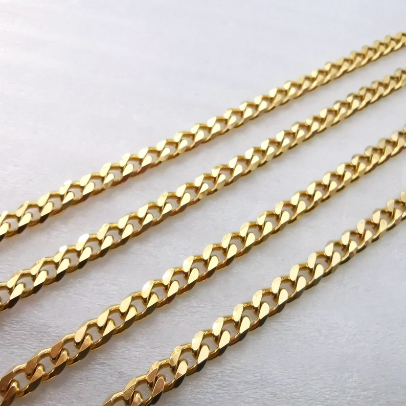 bags Top Bulk 316L Stainless Steel 5mm Link golden Curb Cuban Chain Unisex DIY Used in jewelry clothing crafts
