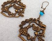 Earrings - Wonderland - pearls - charm