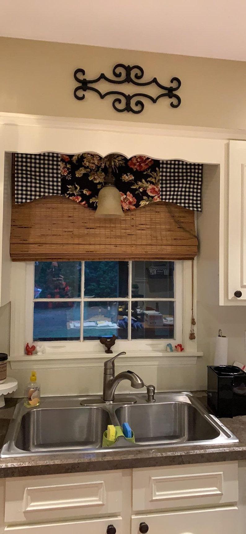 Farmhouse Kitchen Curtains Window Topper Curtains Kitchen Etsy