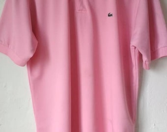 b9055edd Vintage 90s LACOSTE Pink Polo T Shirt