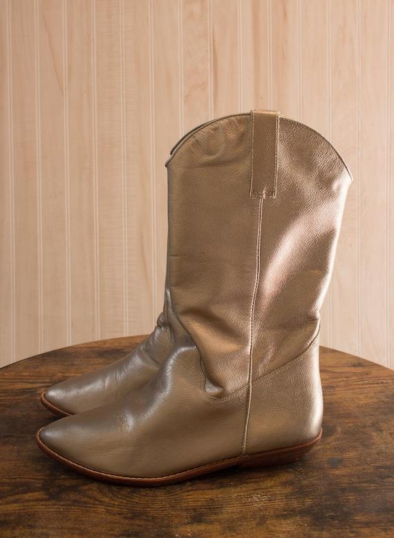 Metallic 1980s 9 West boots