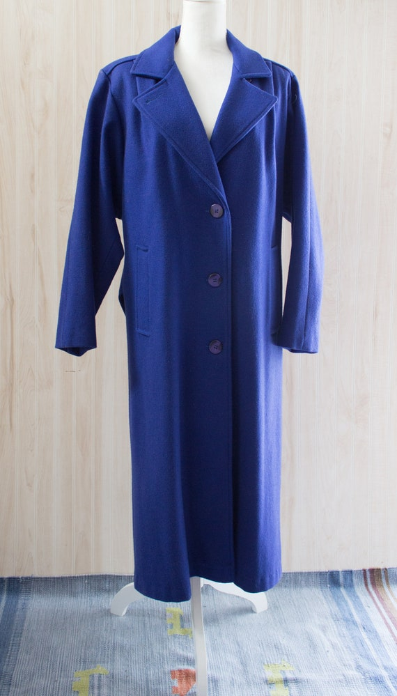 Vintage 1980s Maxi Wool Coat - image 2