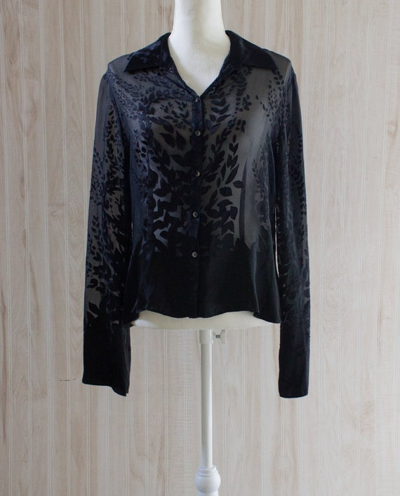 Vintage Y2K Sheer Blouse