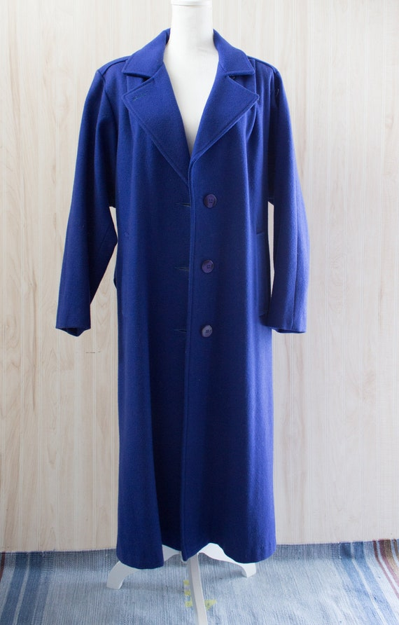 Vintage 1980s Maxi Wool Coat