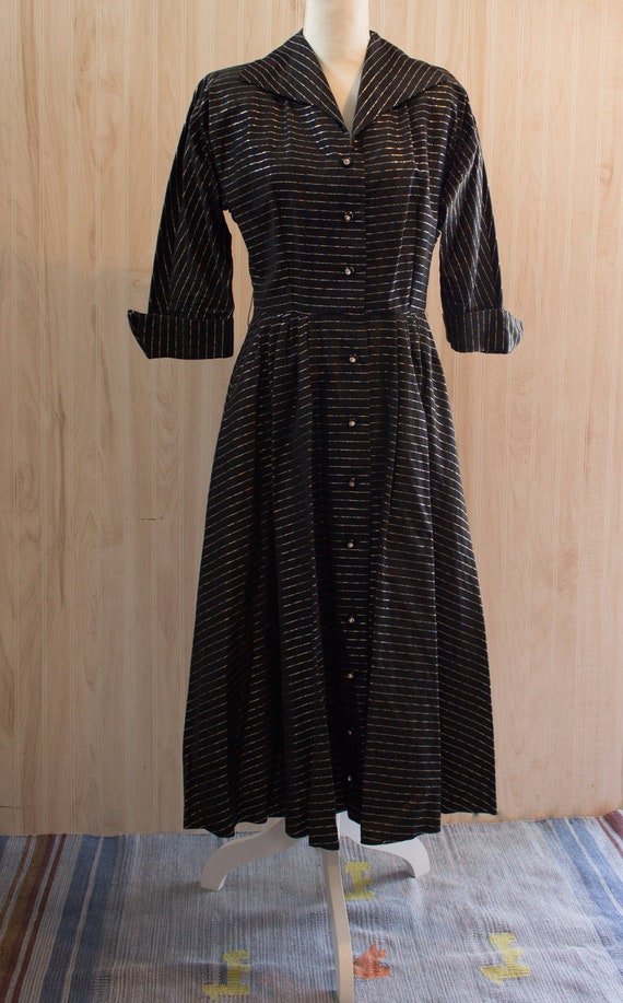 1960s Lurex stripe dress