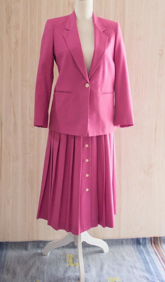 Vintage 1970s Pink Skirt Suit