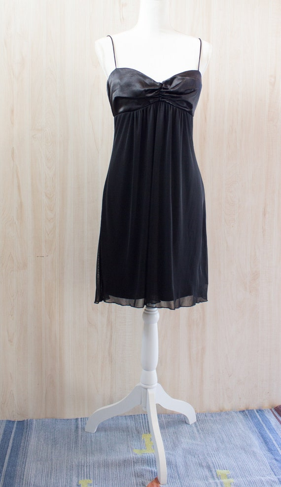 1990s Black Slip Dress