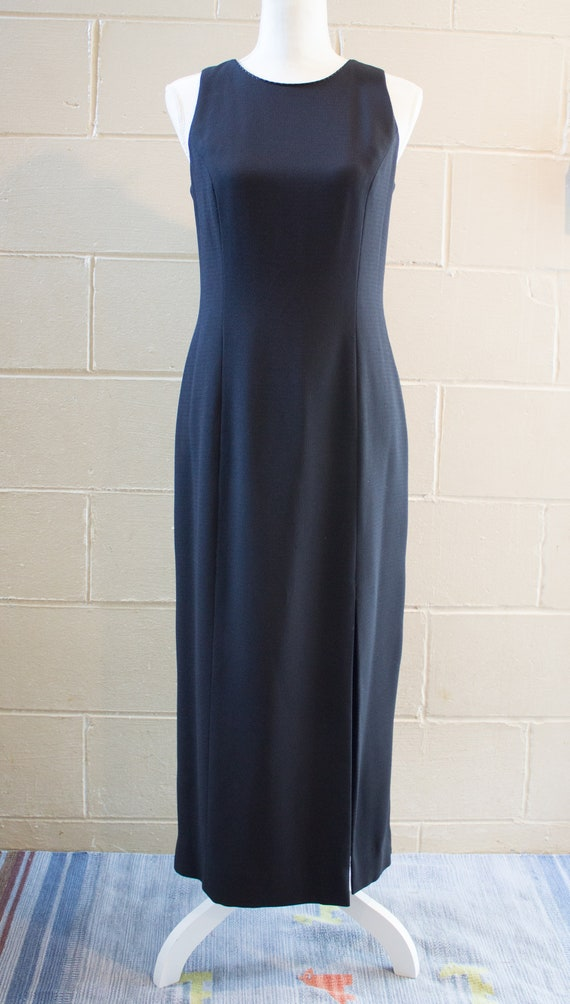 1990s minimal black dress