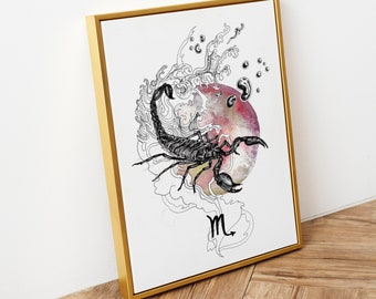 Zodiac Sign Posters and Postcards   12 design options