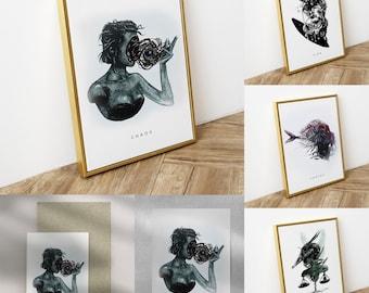 Greek Mythology Art Prints series   Posters   Postcards