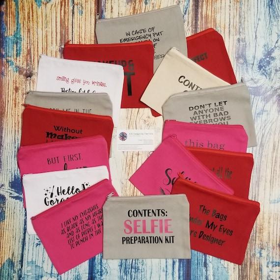 Small Makeup Bag, Makeup Case, Funny Makeup Bag, Travel Bag, Cosmetic Bag, Toiletry Bag, Make Up Bag