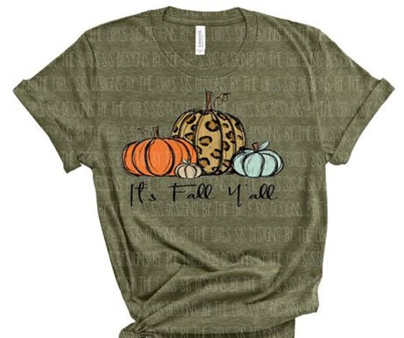 It's Fall Y'all Ready to Press Screen Print Transfer, Plastisol Transfer, Pumpkin Shirt, Fall Thanksgiving Shirt, Leopard Pumpkin Shirt