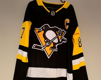 3f33db6b5 Pittsburgh Penguins Sidney Crosby #87 Custom Hockey Jersey Home Mens Large