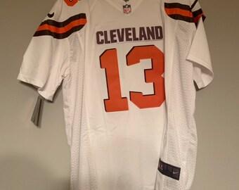 7f13f5528 Cleveland Browns Odell Beckham Jr Custom Football Jersey White Mens Large