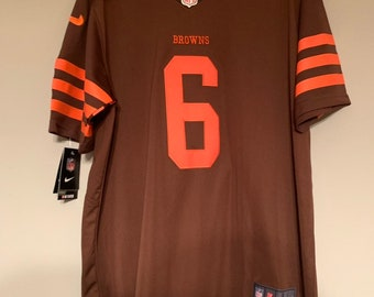 19069ab4b Cleveland Browns Baker Mayfield Custom Football Jersey Alternate Mens Large