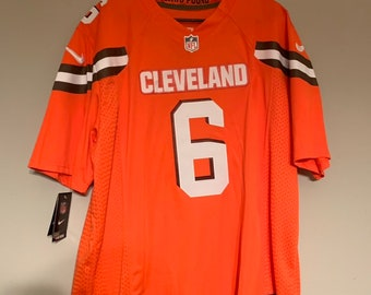 9ef775776 Cleveland Browns Baker Mayfield Custom Football Jersey Home Mens Large