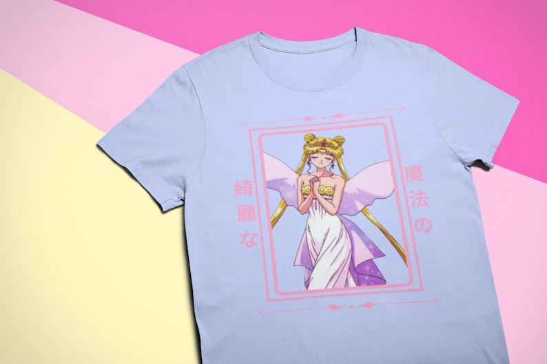 Sailor Moon Beautiful /& Magical Tee T-Shirt Anime Gift Sailor Moon Handmade Anime T-Shirt Anime Unisex Anime Inspired Clothing