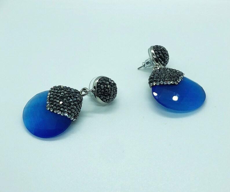 Blue Jade Earring